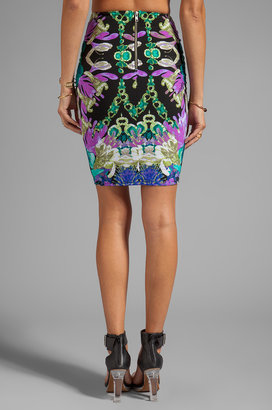 Nookie Crystal Garden Pencil Skirt