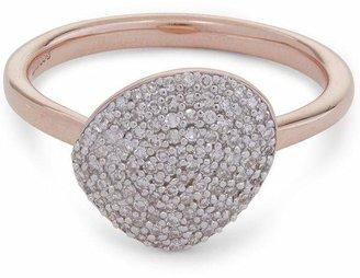 Monica Vinader Rose Gold Vermeil Nura Pebble Diamond Stacking Ring