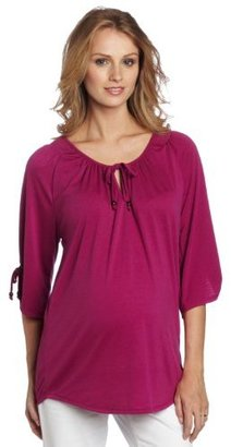 Everly Grey Women's Maternity Robyn 3/4 Sleeve Tunic