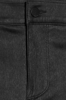 Vince Textured stretch-leather mid-rise skinny pants