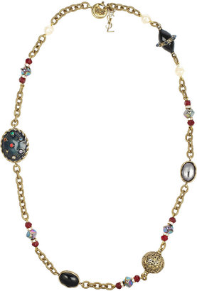 Yves Saint Laurent Secrecy tigers eye and onyx necklace