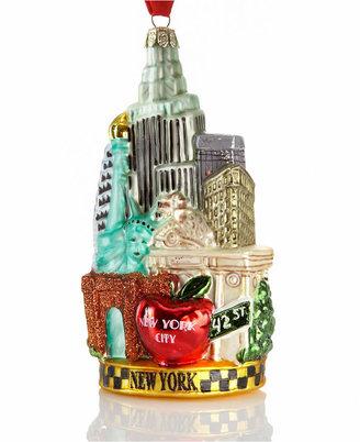 Kurt Adler 5.5 Inch New York Glass Cityscape Ornament