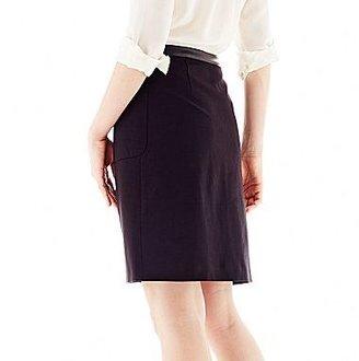 Joe Fresh Joe FreshTM Zip-Front A-Line Skirt