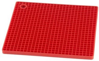 Silicone Zone Red Silicone Grid Pot Holder