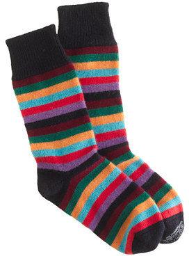 Corgi for J.Crew cashmere multistripe socks
