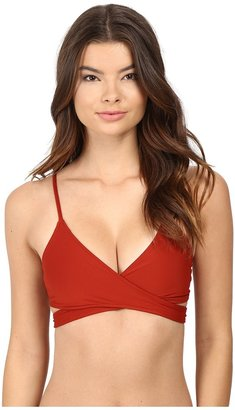 L*Space - Sweet Chic Chloe Wrap Top Women's Swimwear $79 thestylecure.com