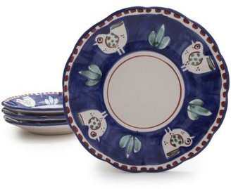 Sur La Table Hand-Painted Italian Rooster Salad Plate