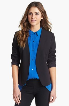 Kenneth Cole New York 'Pilar' Leather Trim Blazer