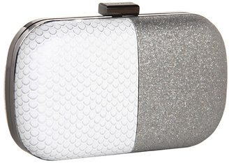 BCBGeneration Two Tone Minaudiere (Silver Combo) - Bags and Luggage