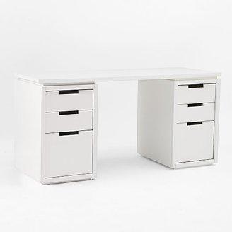 west elm Modular Office L-Shaped Desk Set - White