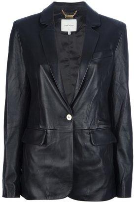 Balmain Pierre single button leather blazer