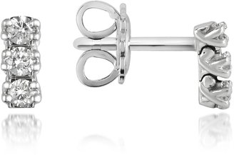 Forzieri 0.22 ctw Three-Stone Drop Diamond 18K Gold Earrings