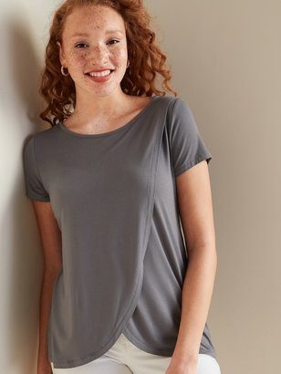 Old Navy Maternity Cross-Front Jersey Nursing Tee