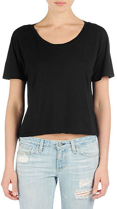 AG Jeans The Boxy Hi-Low Tee - Black