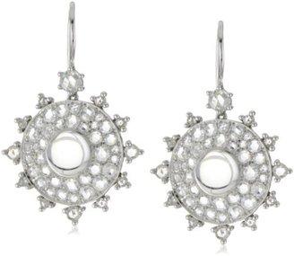 "Nam Cho Bull's Eye"" Earrings with Rose-Cut Diamonds in 18k"