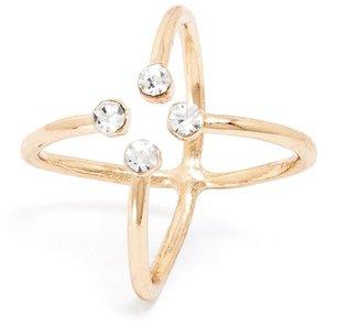 BaubleBar Crystal Electron Ring