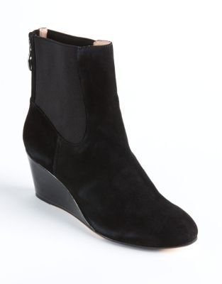 Taryn Rose Kuri Suede Ankle Wedge Boots