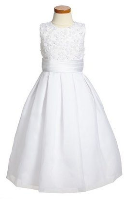Girl's Joan Calabrese For Mon Cheri Sleeveless First Communion Dress $198 thestylecure.com