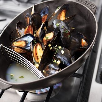 Staub Black Mussel Pot, 13⁄4-qt.