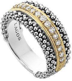 Women's Lagos Diamonds & Caviar Ring $1,995 thestylecure.com