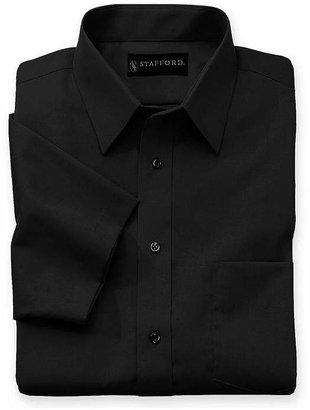 Stafford Mens Short Sleeve Wrinkle Free, Comfort Stretch, Stain Repel, Super Shirt Dress Shirt