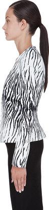 Thierry Mugler White Tiger Print Blazer