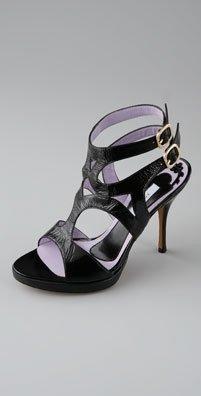 Pollini Double Ankle Strap Sandal