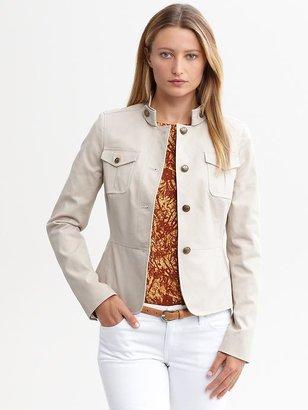 Banana Republic Heritage stretch cotton military jacket