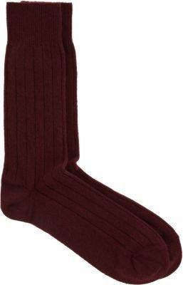 Barneys New York Solid Ribbed Sock