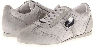 Dolce & Gabbana Suede+Leather+Perf. Laced City Sport (Toddler/Little Kid/Big Kid) (Grey) - Footwear