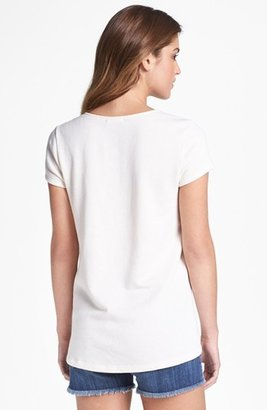 Pleione Faux Leather Detail Heavyweight Tee