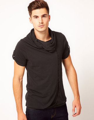 Ringspun T-Shirt With Cowel Neck Devotional