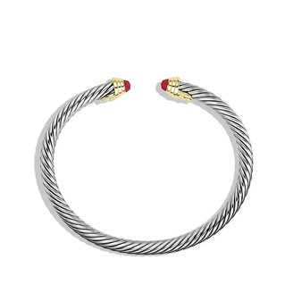David Yurman Cable® Kids July Birthstone Small Bracelet with Ruby and Gold