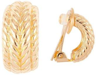 Susan Caplan Vintage 1970s Vintage Christian Dior Demi-hoop Clip-on Earrings