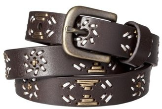 Mossimo Skinny Belt with Lacing - Brown