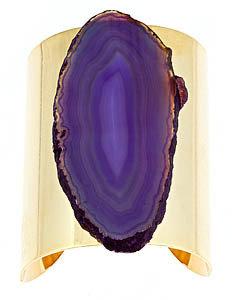 Blydesign Purple Agate Shield Cuff