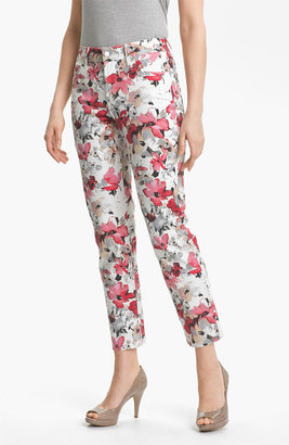 NYDJ 'Alisha' Floral Print Skinny Stretch Ankle Jeans