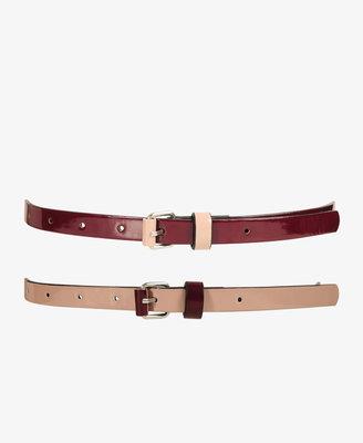 Forever 21 Patent Waist Belt Set