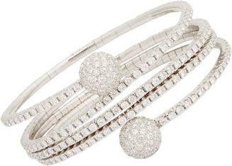 "Sidney Garber Diamond & White Gold ""Pavé Balls All Coiled Up"" Bracelet"