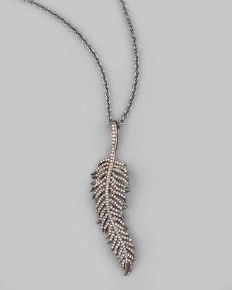 """Tai Feather Pendant Necklace, 30""""L"""