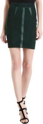 Alexander Wang Seamed Appliqué Pencil Skirt