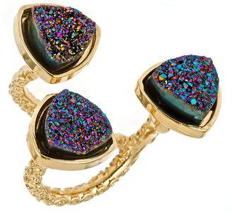 Ettinger UK Dara Lori Three Bezel Cluster Disco Ring