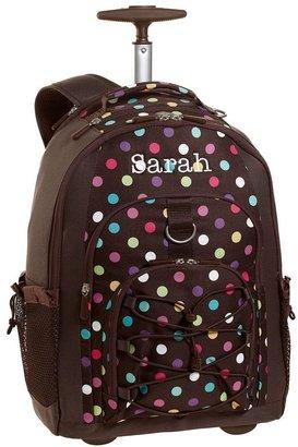 PBteen 4504 Gear-Up Coffee Dottie Rolling Backpack