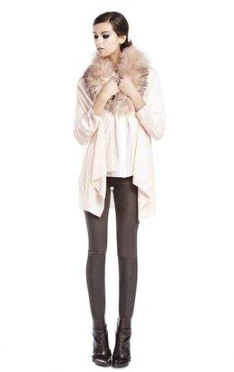 Alice + Olivia Leather Exposed Front Zip Legging