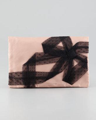 RED Valentino Valentino Red Bow Nylon Clutch Bag, Cammeo