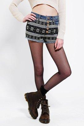 BDG Sweater-Mix Denim Cheeky Short