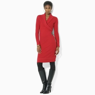 Lauren Ralph Lauren Ralph Shawl-Collar Sweatshirt Dress