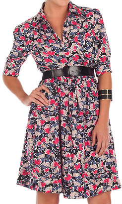 Jessica Simpson Floral Belted Shirt Dress