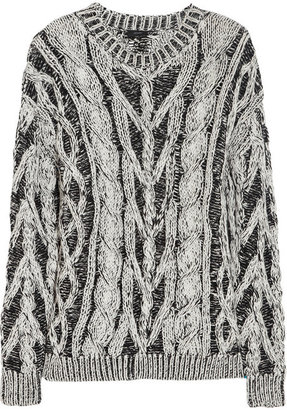 Joseph Two-tone cable-knit cotton sweater