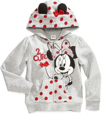 Disney Kids Hoodie, Little Girls Hello Minnie Zip Hoodie